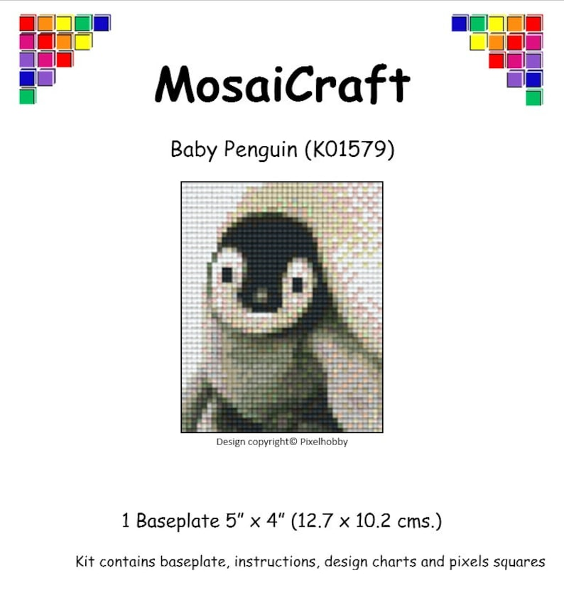 MosaiCraft Pixel Craft Mosaic Kit /'Elephant Family/' Pixelhobby
