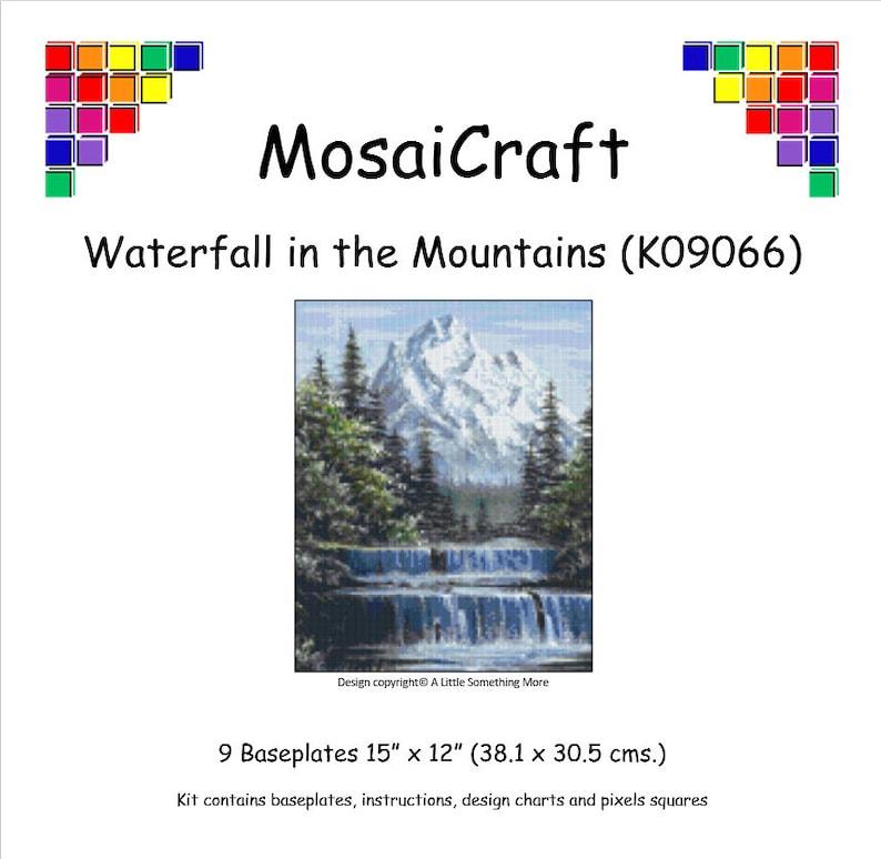 MosaiCraft Pixel Craft Mosaic Art Kit /'Waterfall in the Mountains/' Pixelhobby