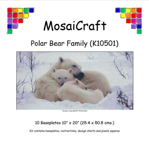 MosaiCraft Pixel Craft Mosaic Art Kit /'Otter/' Pixelhobby
