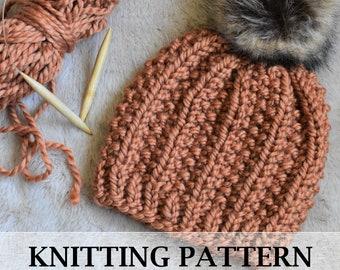 Super Bulky Hat PATTERN - Easy Hat Pattern - Beginner Hat Pattern - Super Bulky Beanie Knit Pattern - Knitting Pattern from Beginners