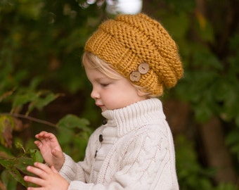 Toddler Hat, Toddler Beanie, Toddler Slouchy Hat, Kids Beanie, Children's Hat, Knit Kids Hat, Fall Fashion