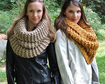 7f2a98370ae82 Knitting Pattern THE STRASBURG SCARF Chunky Knit Cowl Pattern Huge Snood  Knit Scarf Pattern Infinity Scarf Pattern Bulky Cowl Pattern