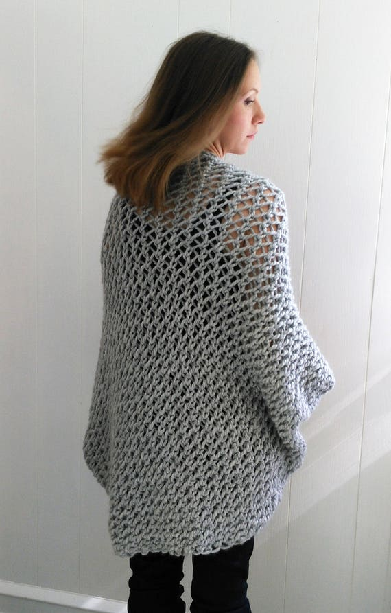 Easy Sweater Pattern Shrug Pattern Beginner Sweater Knit Etsy