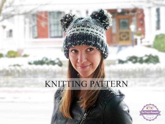 Knitting Pattern Animal Ears Hat Knitted Bear Hat Pattern Etsy