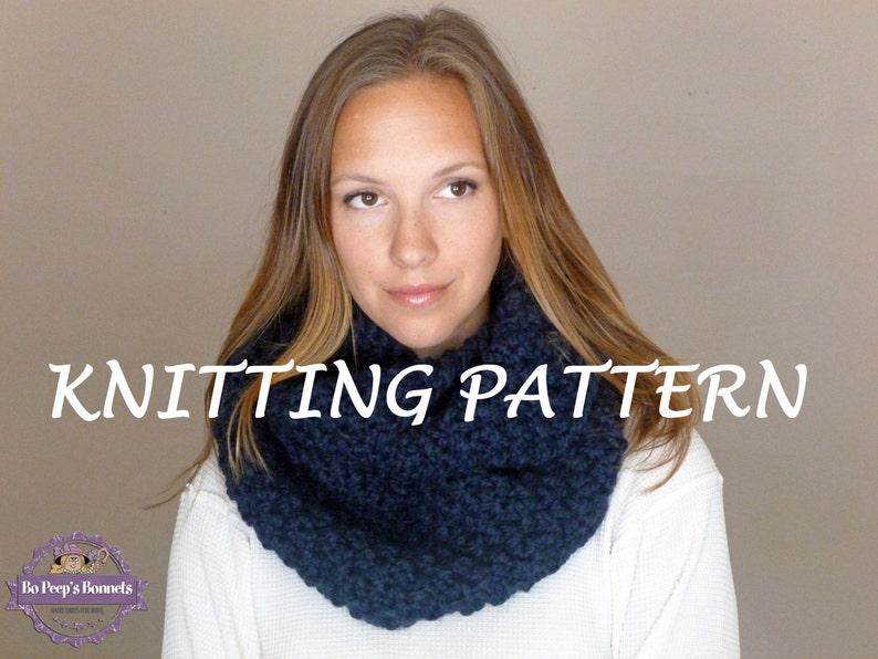 Easy Knit Infinity Scarf Pattern Chunky Scarf Pattern Etsy