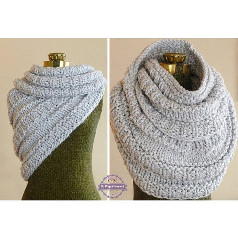 Huntress Cowl Hand Knit Cowl Infinity Scarf Knit Circle image 0