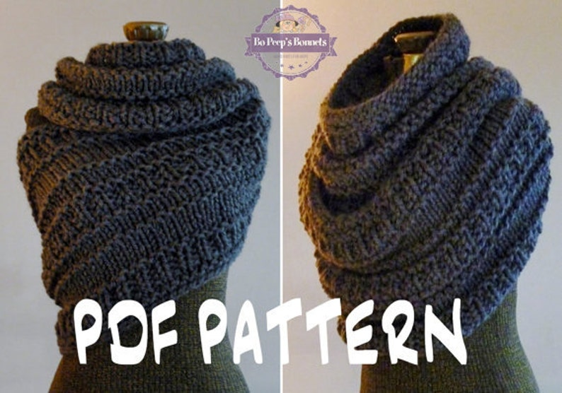 Instant Download Knitting Pattern Huntress Cowl Cowl Wrap Etsy