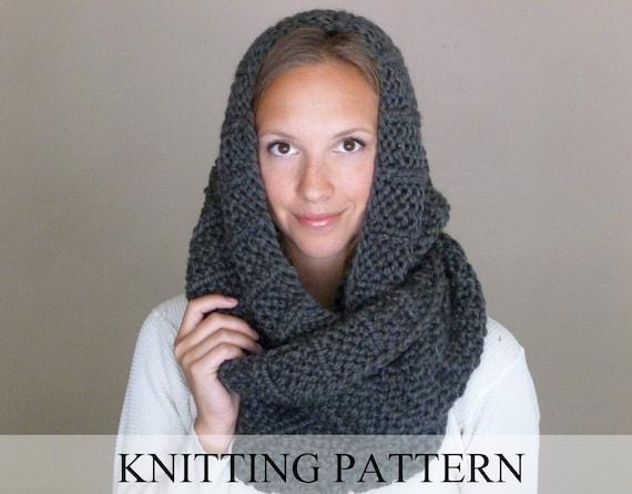 Knitting Pattern The Celebrity Scarf Knit Infinity Scarf Etsy