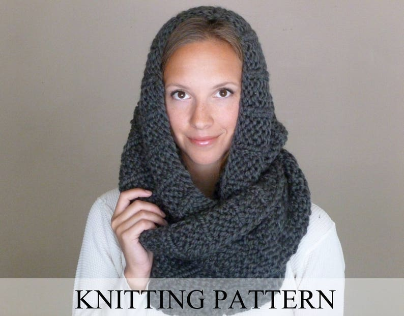 af6833cff70dcc KNITTING PATTERN The Celebrity Scarf Knit Infinity Scarf