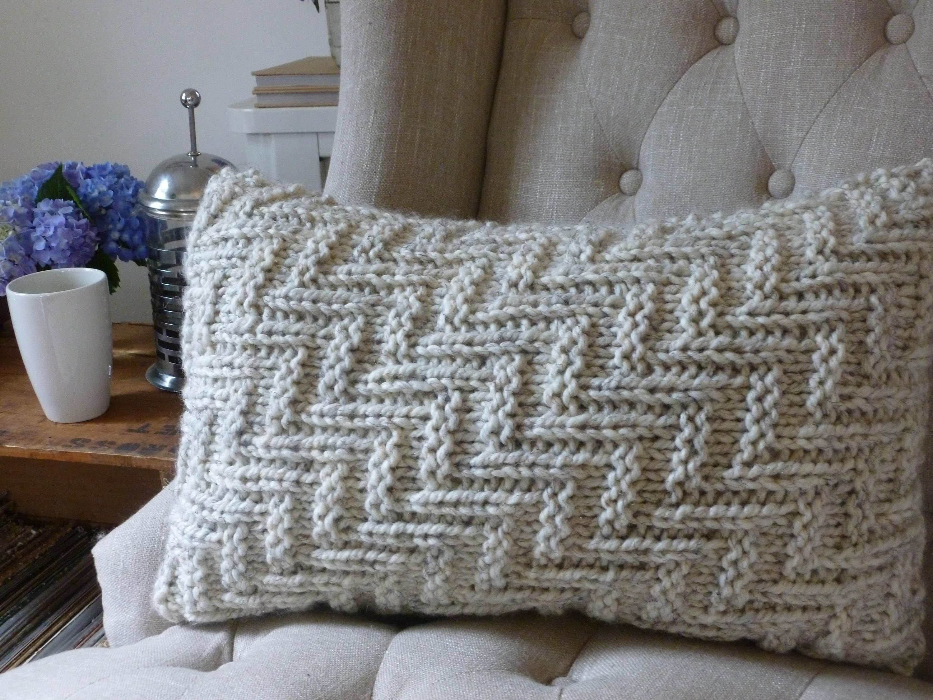 Knit Pillow PATTERN, Knitted Pillowcase Pattern, Pillow Cover ...
