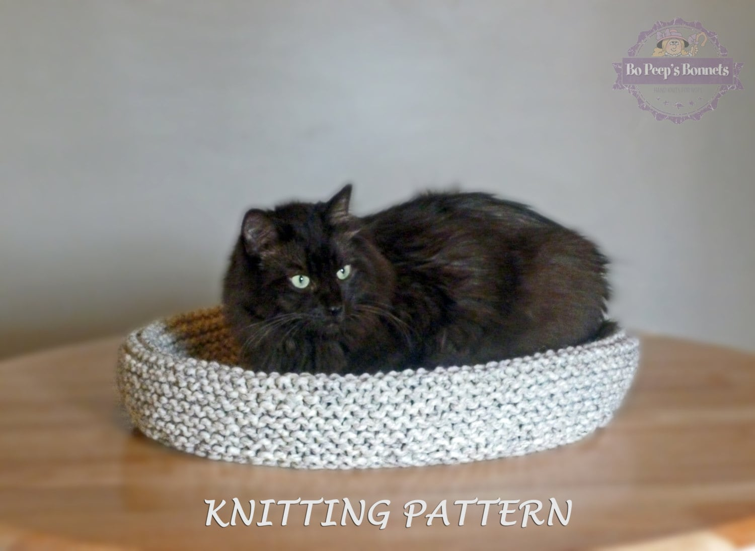Cat Bed KNITTING PATTERN, Knitted Cat Bed Tutorial, DIY Cat Bed, Cat ...