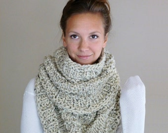 Cowl, Knitted Cowl, Infinity Scarf,  Chunky Cowl, Winter Scarf, Infinity Loop Scarf, Knit Cowl, Circle Scarf, Neutral Cowl, Snood