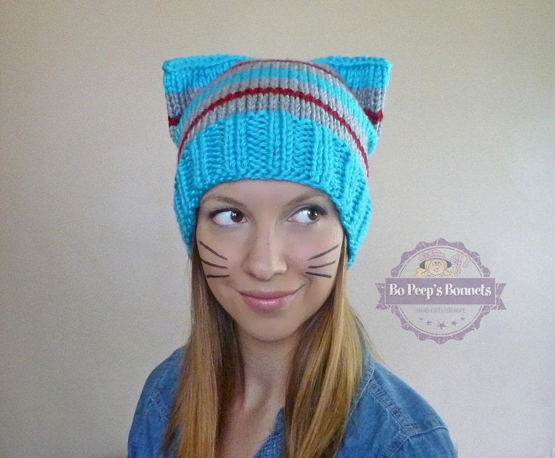 Bad Hair Day Cat Hat  ORIGINAL DESIGNER  Cat Beanie  Cat image 0