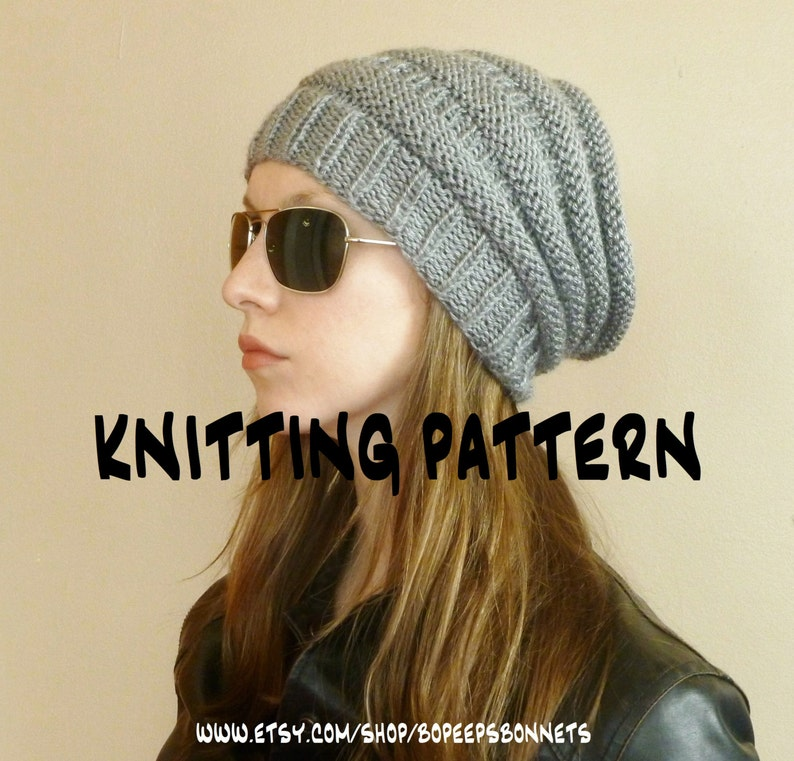 1bf30792bdc INSTANT DOWNLOAD Knitting PATTERN Slouchy Hat Slouchy Beehive
