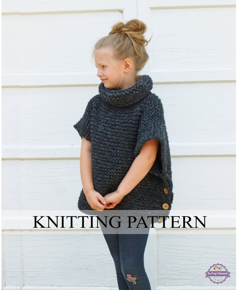 a07116f3b805 KNITTING PATTERN The Sophie Sweater Toddler Child Adult