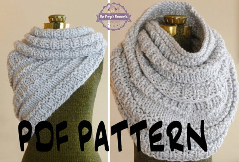 Instant Download Knitting Pattern The Huntress Cowl Knitted Etsy