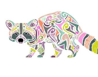 8634e7f0b6a55 Reginald Raccoon Laser Cut Applique Quilt by Laser Cut Quilts