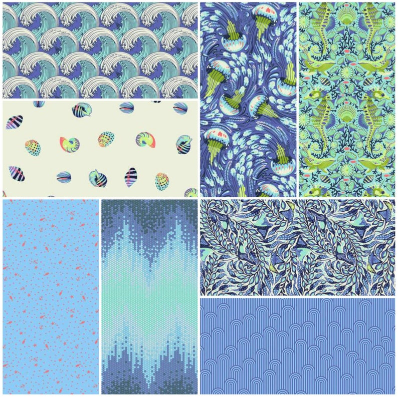 03aa1432e3b4a3 Zuma by Tula Pink 2.5in Mini Charm Pack 48 pieces 2 each of