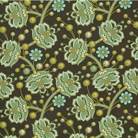 By 1//2 Yard ~ Free Spirit Birds /& Bees Tula Pink Fabric ~ Bees Knees in Forest