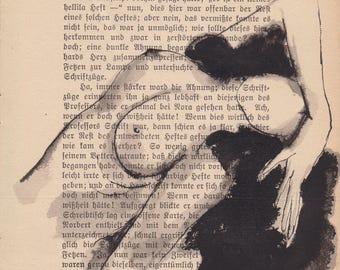A bird - Original ink drawing