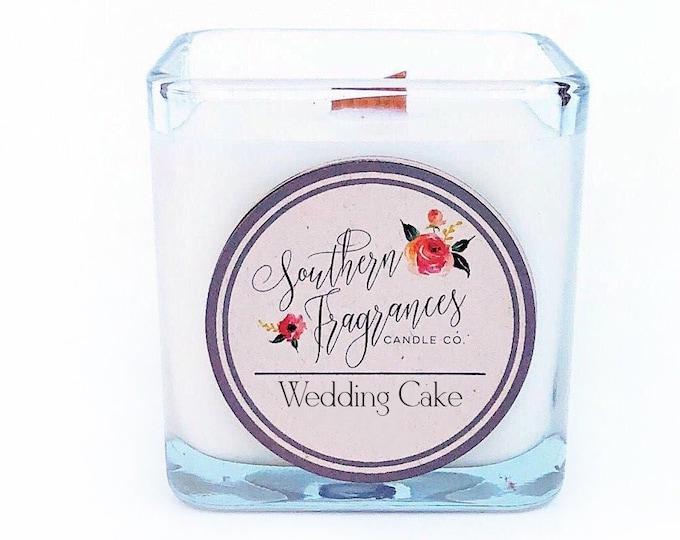 Featured listing image: Wedding Cake Soy Candle | 12oz Glass Jar
