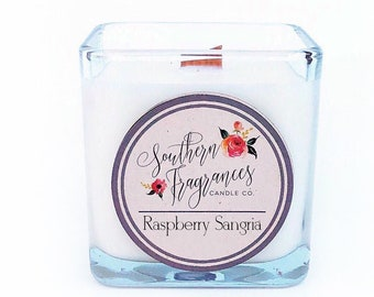 Raspberry Sangria Soy Candle | 12oz Soy Candle