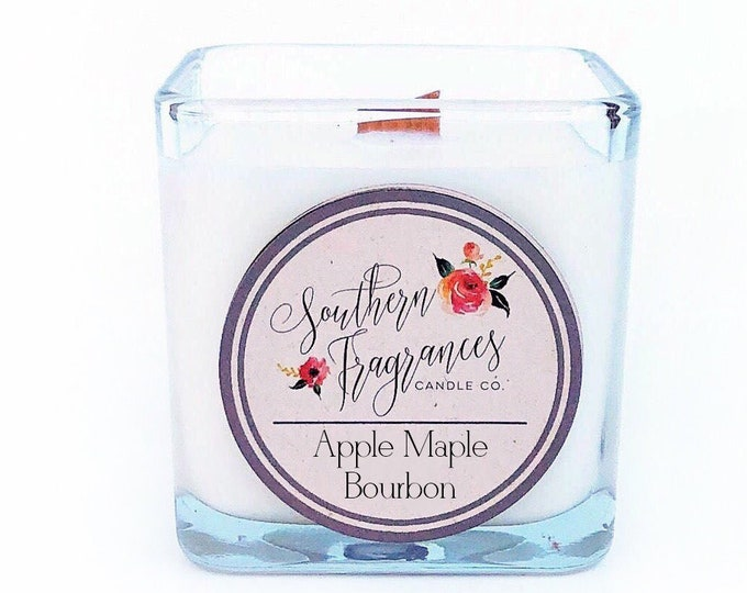 Featured listing image: Apple Maple Bourbon | 12oz Soy Candle