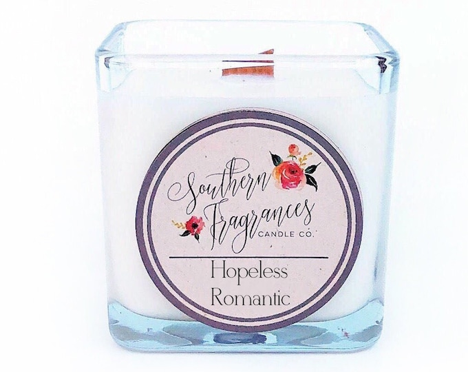 Featured listing image: Hopeless Romantic Soy Candle | 12oz Glass Jar