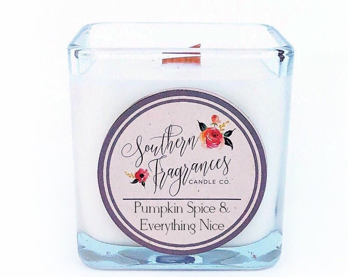 Featured listing image: Pumpkin Spice & Everything Nice Candle | 12oz Glass Jar