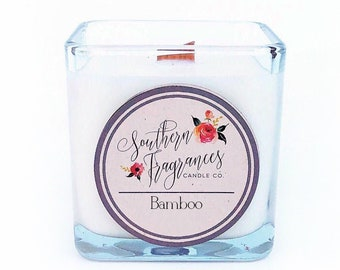 Bamboo Soy Candle | 12oz Glass Jar
