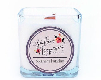 Southern Paradise Soy Candle | 12oz Soy Candle | Wood Wick Candle