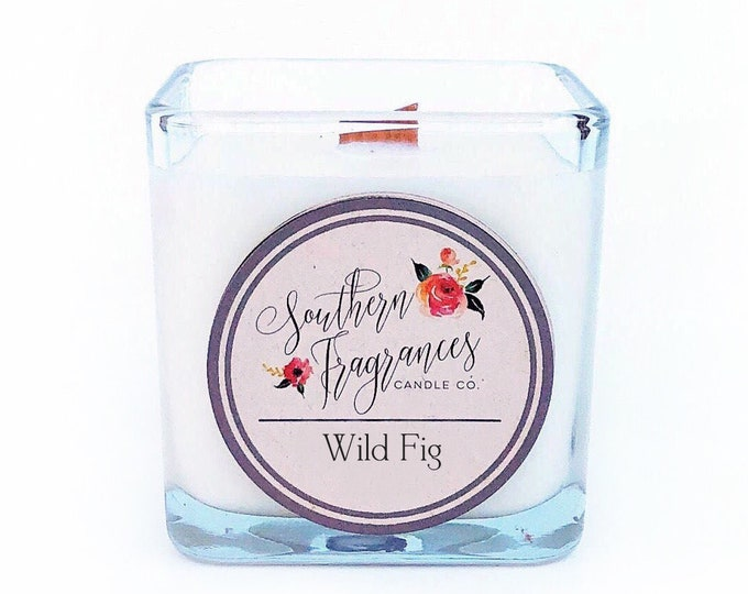 Featured listing image: Wild Fig Soy Candle | 12oz Glass Jar