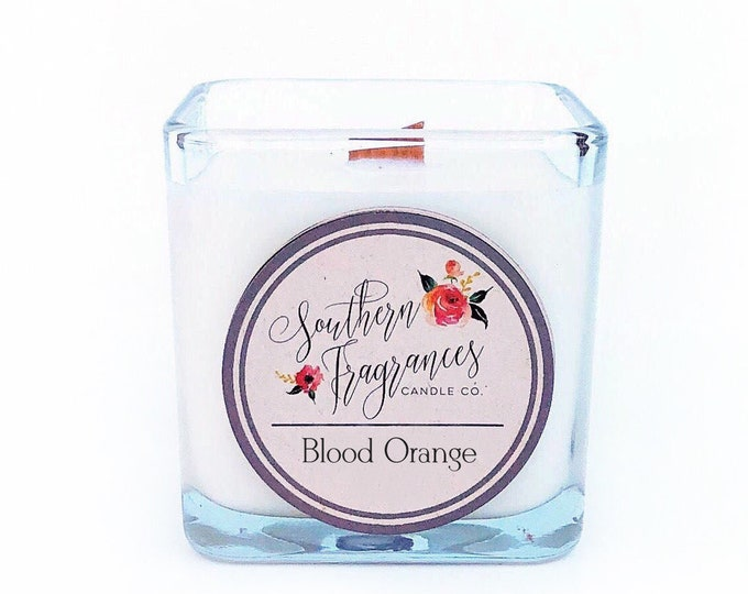 Featured listing image: Blood Orange Soy Candle | 12oz Glass Jar