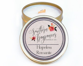 Hopeless Romantic Candle | 6oz Travel Tin