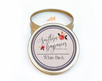 White Birch Soy Candle | 6oz Travel Tin