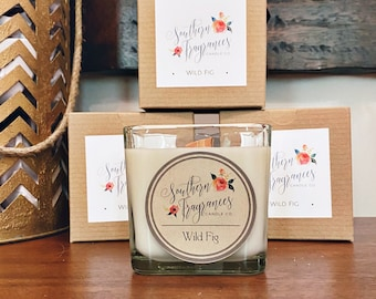 Wild Fig Soy Candle | 12oz Glass Jar