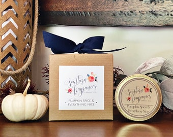 Pumpkin Spice & Everything Nice Soy Candle | 6oz Travel Tin