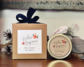 Apple Maple Bourbon Soy Candle | 6oz Travel Tin