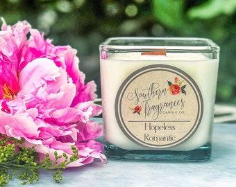 Hopeless Romantic Soy Candle | 12oz Glass Jar