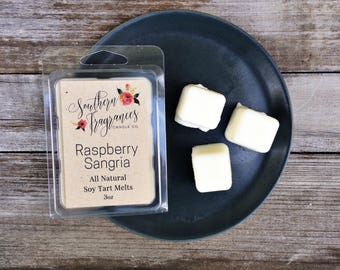 Raspberry Sangria Soy Tart Melt | Tart Melt | All Natural Soy | Eco Friendly | Home Decor |  Gift for Her | Wine Fragrance | Spring Scent