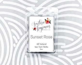 Sunset Rose Soy Tart Melt