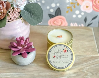 Southern Paradise Soy Candle | 6oz Travel Tin