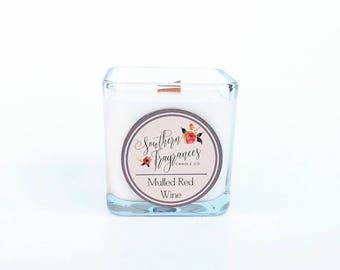 Mulled Red Wine Soy Candle, 12oz Soy Candle, Southern Fragrances, Handmade in NC, Wassail Candle, Fall Candle, Cider Candle, Wine Candle