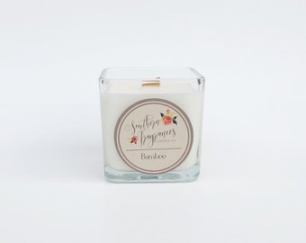 Bamboo Soy Candle | Wood Wick Candle