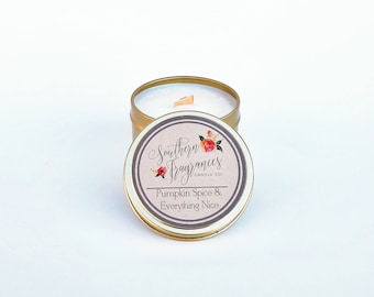 Pumpkin Spice & Everything Nice Soy Candle | 6oz Travel Soy Candle