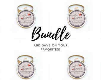 Bundle + Save on Your Favorite Travel Tins   6oz Travel Size Soy Candle   Choose Your Favorite 2!