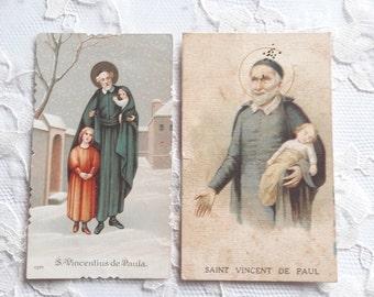 Saint Vincent de Paul Religious Cards Holy Cards