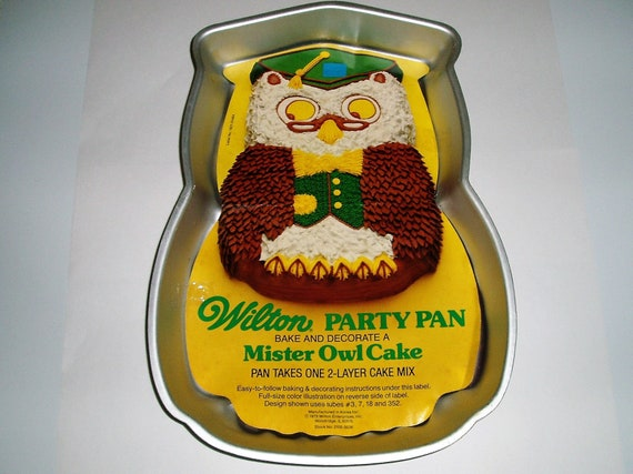 Wilton Cake Pan Owl Shaped DYI Baking Birthday