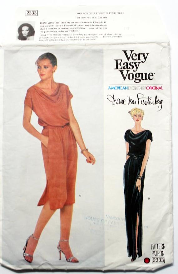 Vintage Vogue Formal Dress Pattern Designer Evening Wear Etsy