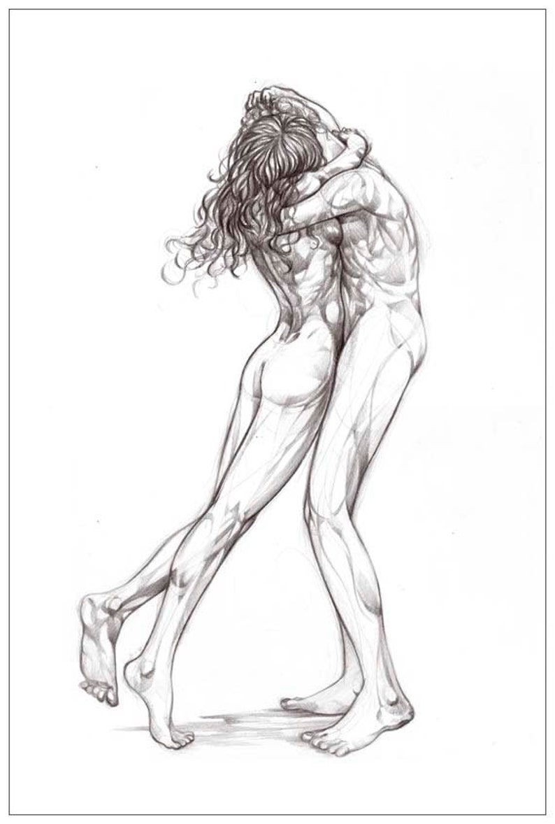 Sensual Artistic Nude Portrait Of A Couple Making Love Tantra An Spiral Notebook For Sale By Awen Fine Art Prints